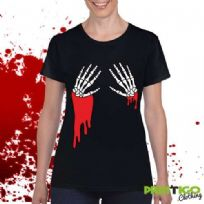Dripping Skeleton Hands T-shirt